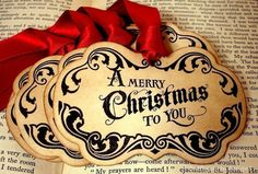 Merry Christmas Quote Gift Tags/Labels/Hang TagsSET by craftypagan, $8.00