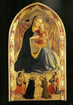 La Vierge d'Humilité, par Fra Angelico Fra Angelico, Madonna, Life Of Christ, Western Art, Christian Art, Bird, Portrait, Painting, Parma