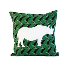 Rhino Scatter Cushion - KNUS Scatter Cushions, Throw Pillows, Leather Handbags, African, Crafts, Handmade, Collection, Interior, Women