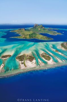 Bora Bora (aerial), Tahiti #tropical #vacation