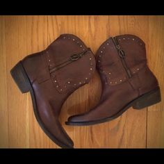 Lucky brand size 7 boots Good condition, no flaws, bought from another posher, but slightly too big for me  willing to trade for Lucky size 6.5! Or selling for $60 Lucky Brand Shoes Ankle Boots & Booties