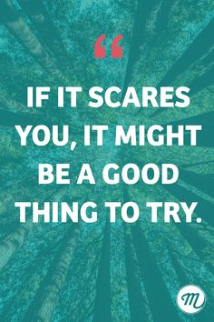 If it scares you, it might be a good thing to try. Don't be afraid! 🙏 #businessquotes #erfolg #wachstum #growth #inspiration #inspirationalquotes #spruchdestages