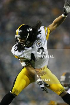Pittsburgh Steelers safety Troy Polamalu in action against the Jacksonville Jaguars at Alltel Stadium in Jacksonville, Florida on September Jaguars defeated the Steelers Get premium, high resolution news photos at Getty Images Pittsburgh Steelers Wallpaper, Pittsburgh Steelers Players, Pittsburgh Sports, Football Players, Football Helmets, Samoan Men, Troy Polamalu, Steeler Nation, Jacksonville Jaguars