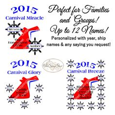 CARNIVAL CRUISE Any Ship Personalized Family by OneSpringStreet