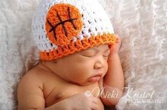 Basketball Newborn Crochet Knit Beanie Hat - 05H-Oh why don't I know how to crochet