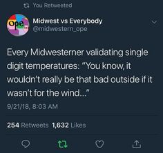 """21 Memes & Pics For The True Midwesterners - Funny memes that """"GET IT"""" and want you to too. Get the latest funniest memes and keep up what is going on in the meme-o-sphere. Love Memes, Funny Memes, Jokes, Funniest Memes, Funny Cute, The Funny, Hilarious, Minnesota Funny, Iowa Funny"""