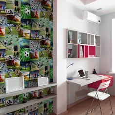 Fine Decor Football Collage Multi Wallpaper - Novelty Wallpaper - http://godecorating.co.uk/fine-decor-football-collage-multi-wallpaper/