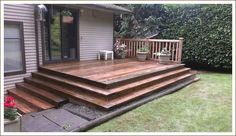 On Point Installations: Deck - Wrap Around Stairs