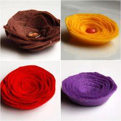 Цветя от ленти филц