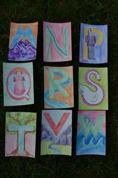 Waldorf ~ 1st grade ~ Letter ~ cards