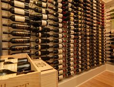 Vintage View Wine Racking - modern - wine cellar - vancouver - by Blue Grouse Wine Cellars Vintage View Wine Racks, Modern Wine Rack, Wine Cellar Design, Wine Auctions, Racking System, Wine Collection, Wine Fridge, Basement Remodeling, Basement Ideas
