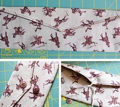 Fabric Tie Envelope DIY Tutorial #sewing #craft
