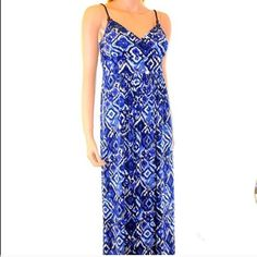 Spaghetti patterned Maxi Dress New with tags American Living Dresses Maxi