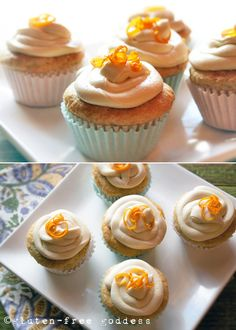 Gluten-Free Goddess Orange Creme Cupcakes - Lactose-Free, Vegan + Dairy-Free #glutenfree / Wholesome Foodie <3