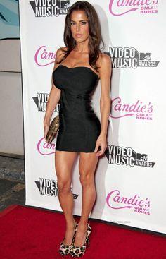 Fit and beautiful Kelly Monaco amazing in little black dress.