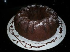 Jello Chocolate Pudding Cake. Going to try this with oreo pudding and white cake!