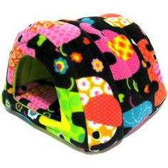 Hidey Hut in Elephants fleece