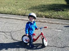 Look At Charlie What A Cutie On His First Bike The Kickster Trek