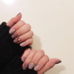 * * new nail * 地味カラーにカラフルストーン❤️ * #セルフネイル #セルフネイル部 #ジェルネイル #ネイルチェンジ