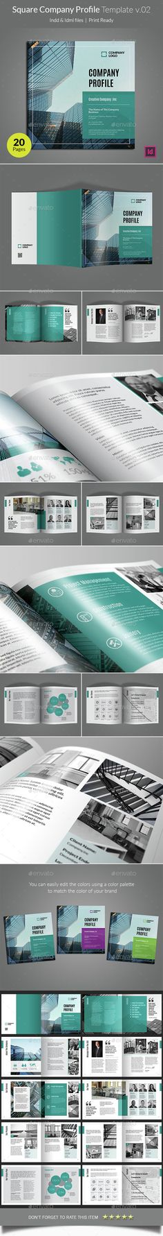 Company Profile Template InDesign INDD. Download here…