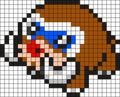 Mamoswine Pokemon Bead Pattern Perler Bead Pattern / Bead Sprite