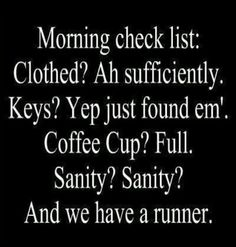 Excellent check list, but sorry about the runner. Sanity had to go.