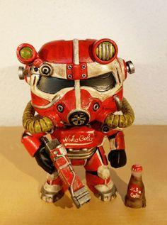 Fallout 4 Nuka Cola power armor custom Funko pop by Bastelkleber