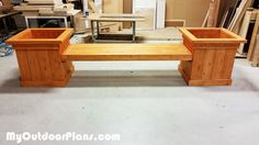DIY Garden Planter Bench | MyOutdoorPlans | Free Woodworking Plans and Projects, DIY Shed, Wooden Playhouse, Pergola, Bbq