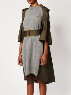 Sacai Knitted Panel Dress - Farfetch