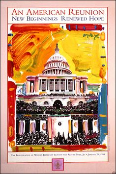 An American Reunion - Peter Max 1993