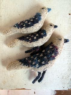 oiseaux tricot