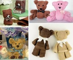 Make Washcloth Teddy Bear