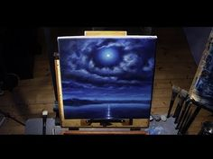 How To Paint a Full Moon Sky - Acrylic Painting Time Lapse by Nagualero  Like the music as well.