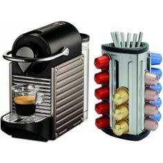 Nespresso Pixie C60 Electric Titan Espresso Machine Plus Free 30 Capsule Carousel by Nespresso. $229.00