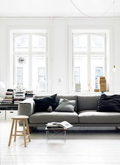 Relaxed and dreamy crisp white apartment