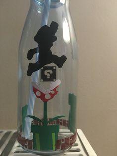 Mario milkshake drinks bottle by Beyondcosmicshop on Etsy