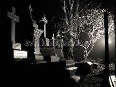 Properly gothic graveyard at night - Ecclesall Church in Sheffield