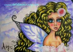 Lovely... a fairy made on my xxl Moleskine with PanPastels and acrylics.