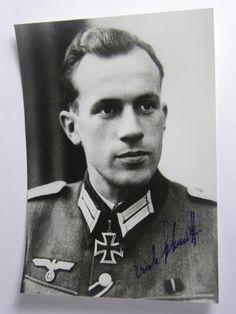 Postwar signed Knight Cross winner Erich Schmitt