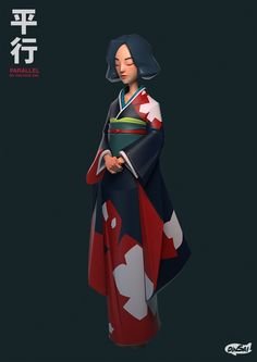 The Parallel : HANA, Kontorn Boonyanate on ArtStation at https://www.artstation.com/artwork/QVEgx