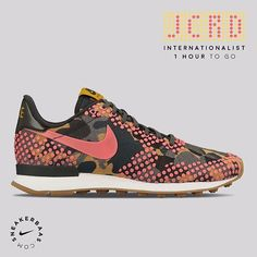 #nike #nikeairmax #jcrd #jacquard #AM90  Nike 'JCRD' Pack - JCRD Camo is back! This time the Air Max 90, Air Max Thea and the Internationalist will get the Jacquard makeover. The women's only sneaker got a multicolor camo and uses pink dots instead of the normal mudguard.