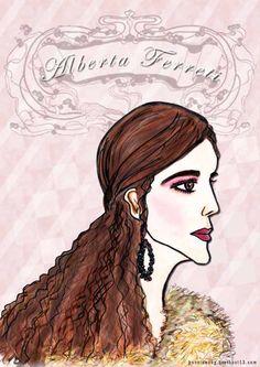 alberta ferretti, f/w 2016, fashion illustration by bonnie.w