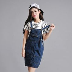 2016 Summer New women's Cowboy BracesSkirt Overalls Dresses Large Size Women Clothing Students Denim Dress Braces skirt  S  4XL-in Dresses from Women's Clothing & Accessories on Aliexpress.com | Alibaba Group
