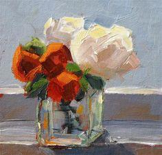 Morning Bouquet - Original Fine Art for Sale - © Julie Kirkland Art Pictures, Art Images, Photos, Painting Inspiration, Art Inspo, Great Paintings, Flower Paintings, Abstract Flowers, Acrylic Flowers