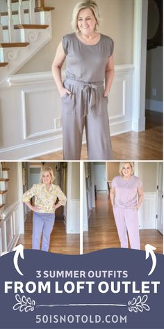 You do not want to miss the details on the three fashionable, but comfy outfits from Loft Outlet that are perfect for summer. Click on over to the blog to get all the information! Fashion Bloggers Over 40, Fashion Over 40, Night Outfits, Summer Outfits, Fashion Outfits, 50 Is Not Old, Fashion And Beauty Tips, Summer Fashions, Outfit Posts