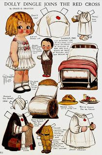 Bonecas de Papel: Dolly Dingle Paper Dolls: Red Cross