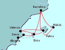 Boat and Ferry to Ibiza, Palma, Mallorca from Valencia and Denia
