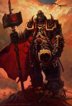 Orgrim Doomhammer by Vaejoun.deviantart.com on @deviantART
