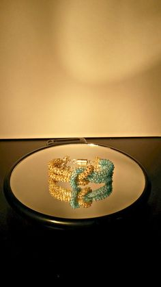 Infinity knot magic blue kumihimo bracelet
