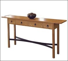 Bon An Arts And Crafts Sofa Table Project Plan (Print Plan)